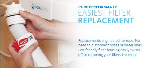 aquasana water filter replacement